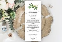 Wedding Menu Editable Template  Pixelify  Best Free Fonts Mockups with regard to Editable Menu Templates Free