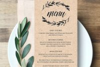 Wedding Menu Templates Free Microsoft Word – Guatemalago with Free Wedding Menu Template For Word