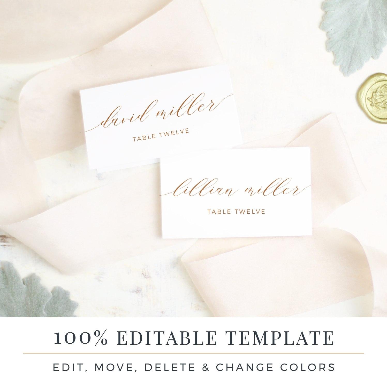 Wedding Place Card Template Printable Escort Cards Rustic  Etsy In Printable Escort Cards Template