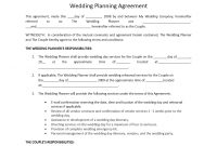 Wedding Planner Contract Template regarding Event Sponsorship Agreement Template