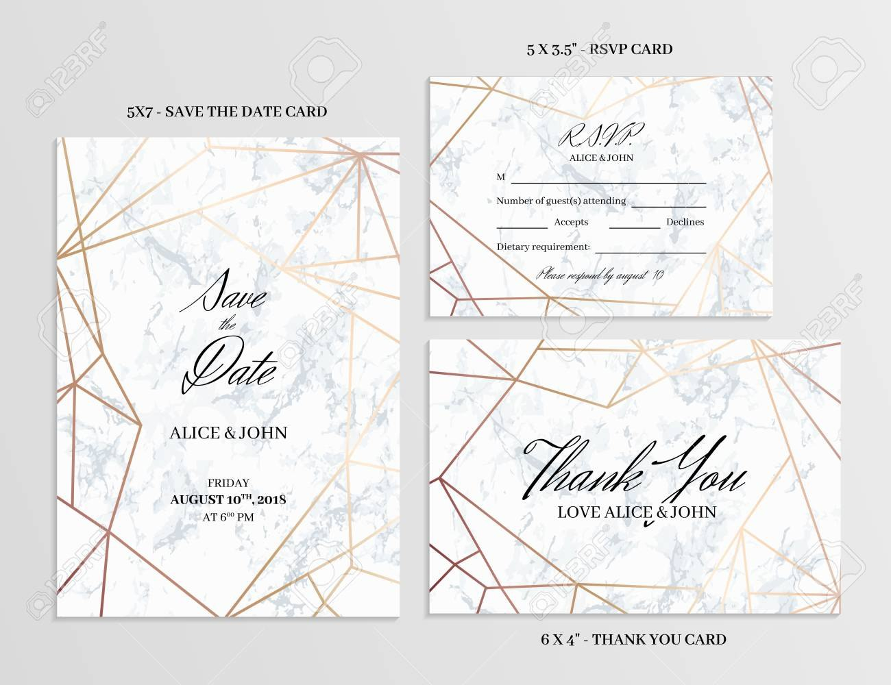 Wedding Set Save The Date Thank You And Rsvp Cards Template Within Template For Rsvp Cards For Wedding