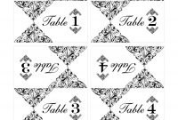 Wedding Table Number Template  Call Me Victorian in Table Number Cards Template