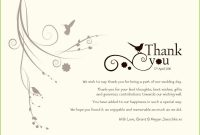 Wedding Thank You Card Examples Elegant Wedding Thank You Templates within Template For Wedding Thank You Cards