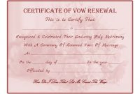 Wedding Vow Renewal Certificate Printable Here Another Similar throughout Blank Marriage Certificate Template