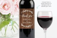 Wedding Wine Bottle Label Printable Wine Label Template inside Diy Wine Label Template