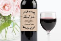 Wedding Wine Bottle Label Printable Wine Label Template within Diy Wine Label Template