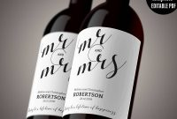 Wedding Wine Label Template Printable Wine Label Mr And Mrs Wine throughout Template For Wine Bottle Labels