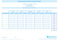 Weekly Timesheet Template For Multiple Employees  Clicktime pertaining to Weekly Time Card Template Free