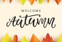 Welcome Autumn Banner Template With Fall Leaves Vector Image with Welcome Banner Template