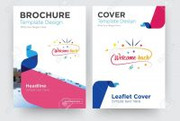 Welcome Back Brochure Flyer Design Template With Abstract Photo for Welcome Brochure Template