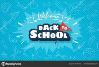 Welcome Back To School Horizontal Banner Template For Web — Stock inside Welcome Banner Template