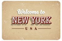 Welcome New York Banner Template Design Royalty Free Cliparts throughout Welcome Banner Template
