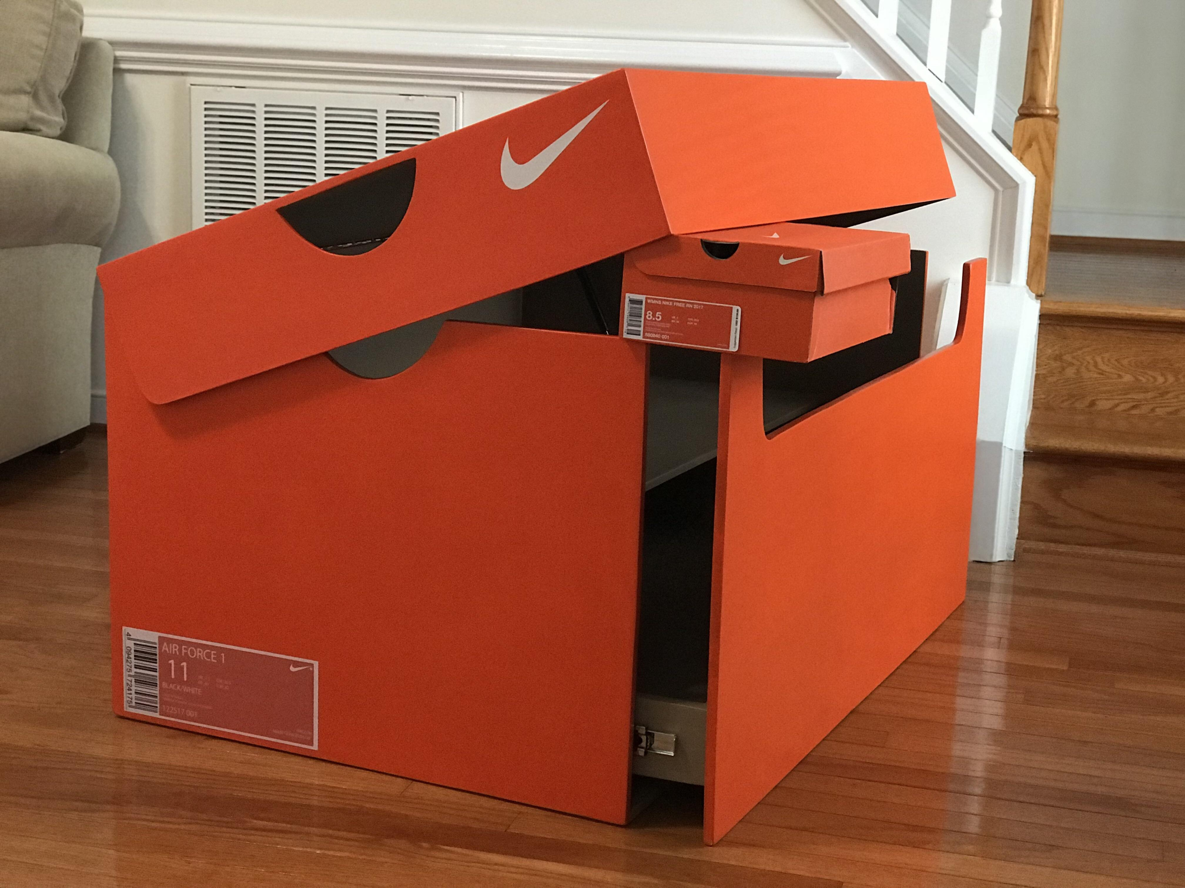 What Does One Do When They Have Way Too Many Shoes Build A Giant With Regard To Nike Shoe Box Label Template