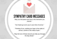 What To Write In A Business Sympathy Card Some Sample Messages And pertaining to Sorry For Your Loss Card Template