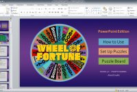 Wheel Of Fortune For Powerpoint  Gamestim pertaining to Wheel Of Fortune Powerpoint Template