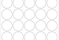 "White Glossy Labels  "" Circle K   Wholesale Supplies Plus with 1.5 Circle Label Template"