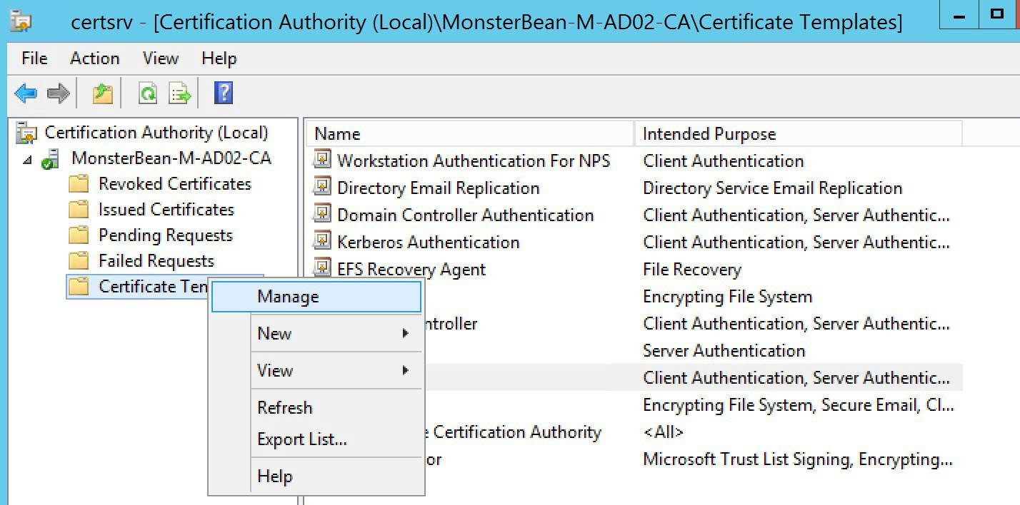 Windows  R Nps With Eaptls Authentication For Os X  Mobile With Regard To Domain Controller Certificate Template
