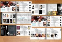 Wine  A Modern Catalogueflyer King On Creative Market  Wine inside Wine Brochure Template