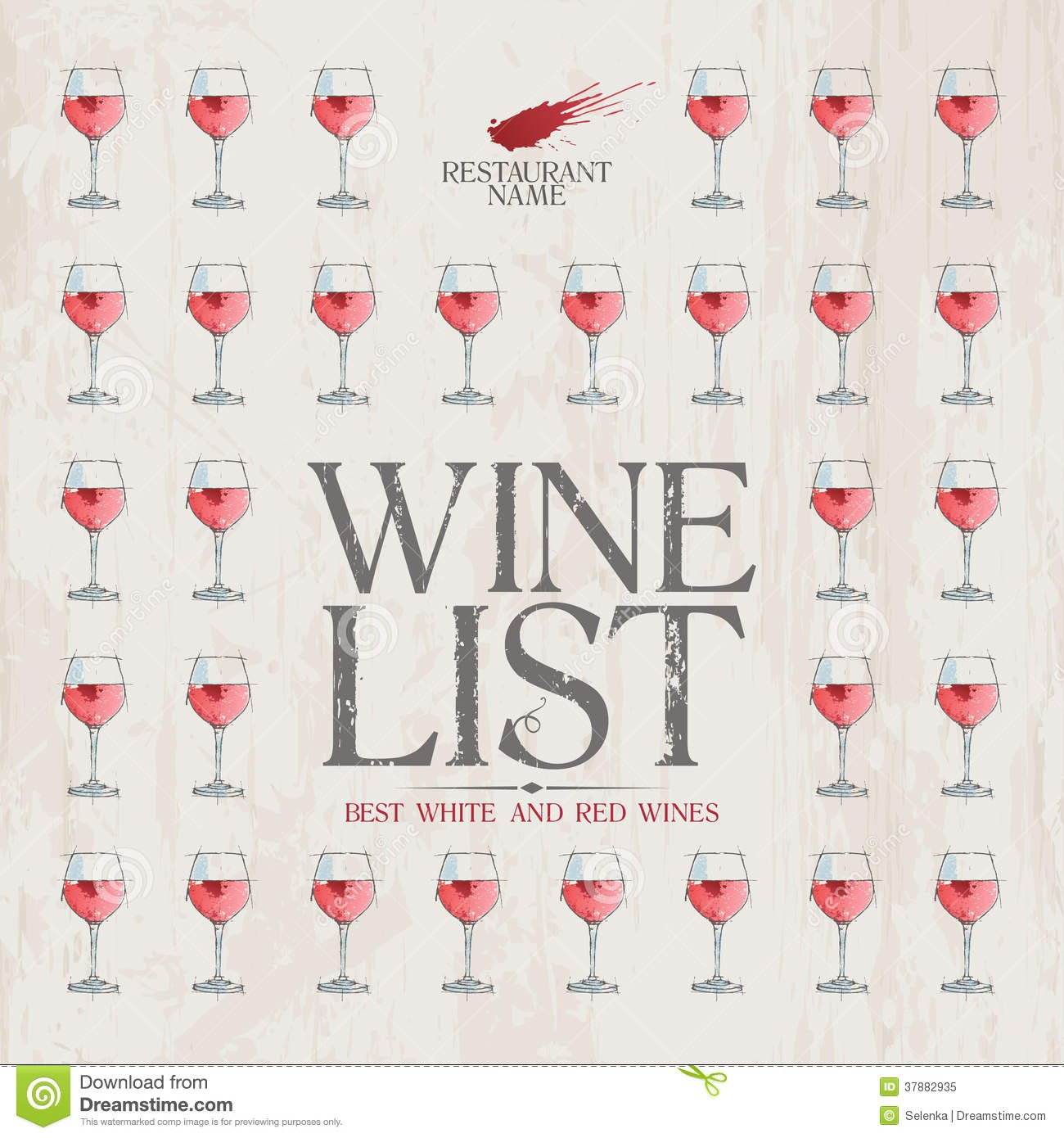 Wine List Menu Template Stock Vector Illustration Of Gourmet Regarding Free Wine Menu Template