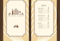 Wine Menu Template Royalty Free Vector Image  Vectorstock intended for Free Wine Menu Template