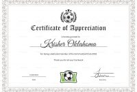 Women Football Appreciation Certificate Design Template In Psd Word throughout Football Certificate Template