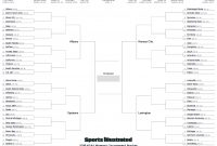 Women's Ncaa Tournament Printable  Full Bracket  Si regarding Blank March Madness Bracket Template