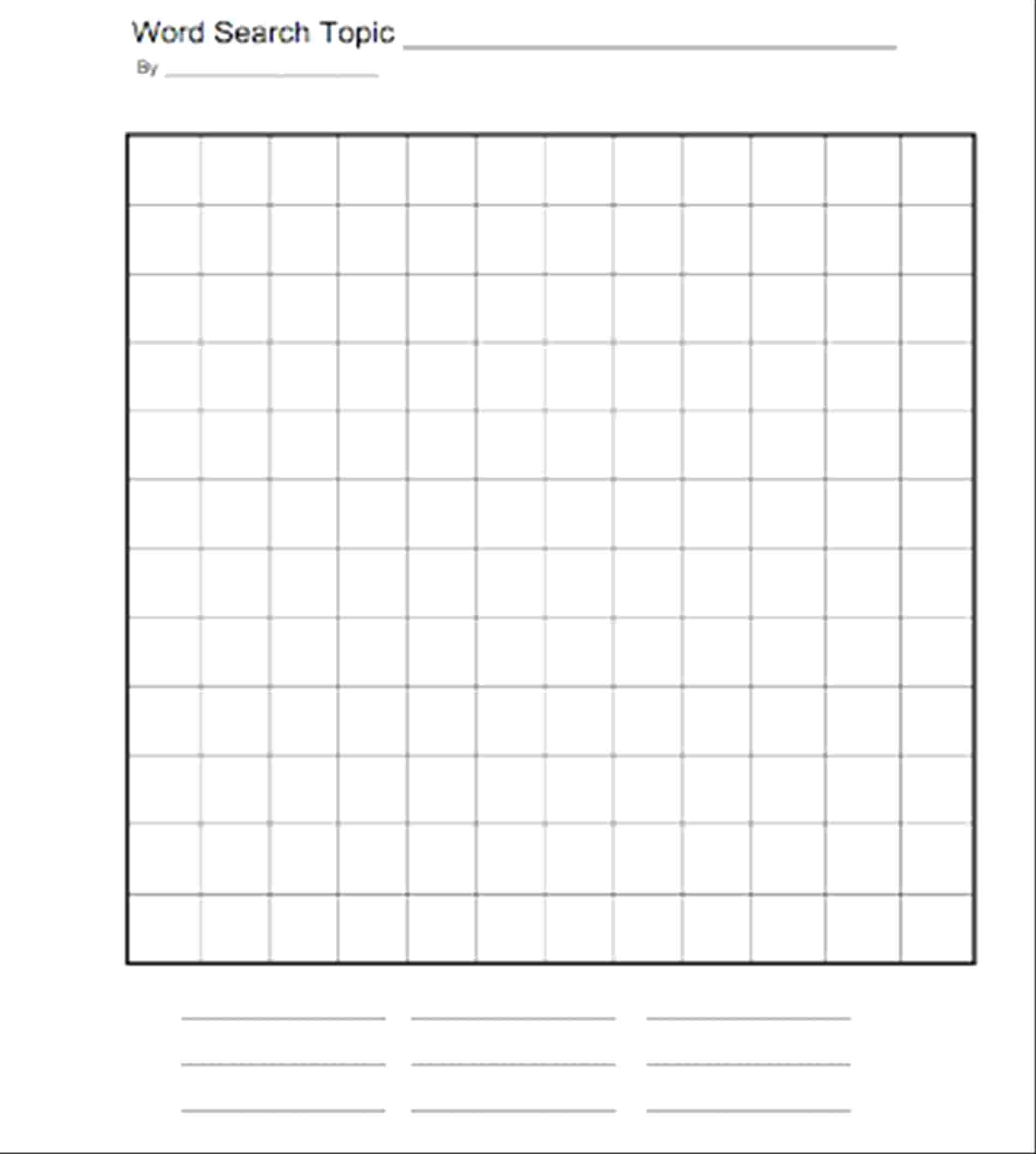 Wondrous Free Printable Blank Word Search Template ~ Istherewhitesmoke In Blank Word Search Template Free