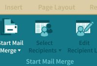 Word  Creating A Mail Merge in How To Create A Mail Merge Template In Word 2010