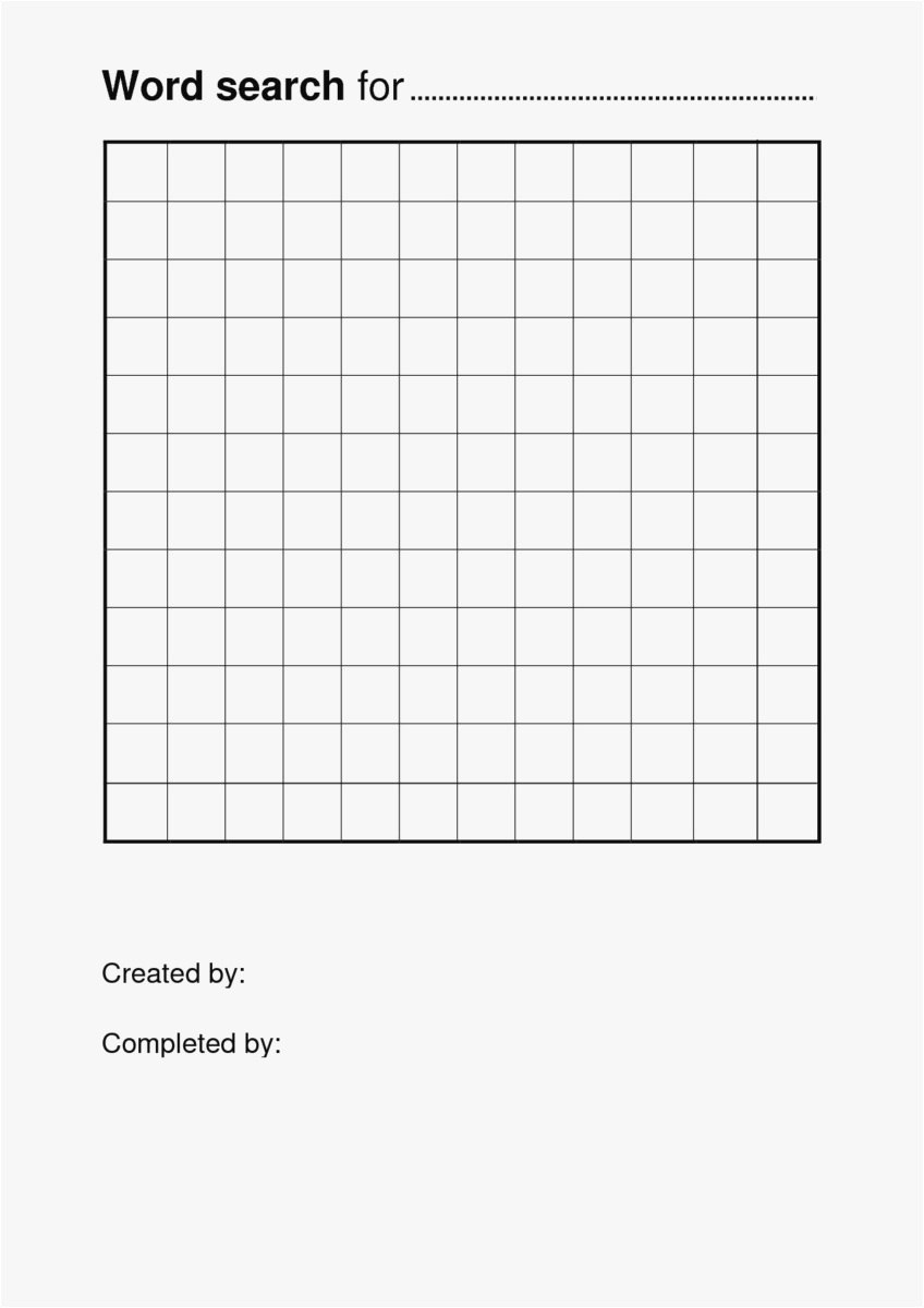 Word Search Template  Types Of Letter With Blank Word Search Template Free