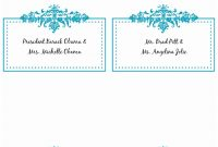 Word Templates For Place Cards  Lascazuelasphilly for Free Template For Place Cards 6 Per Sheet