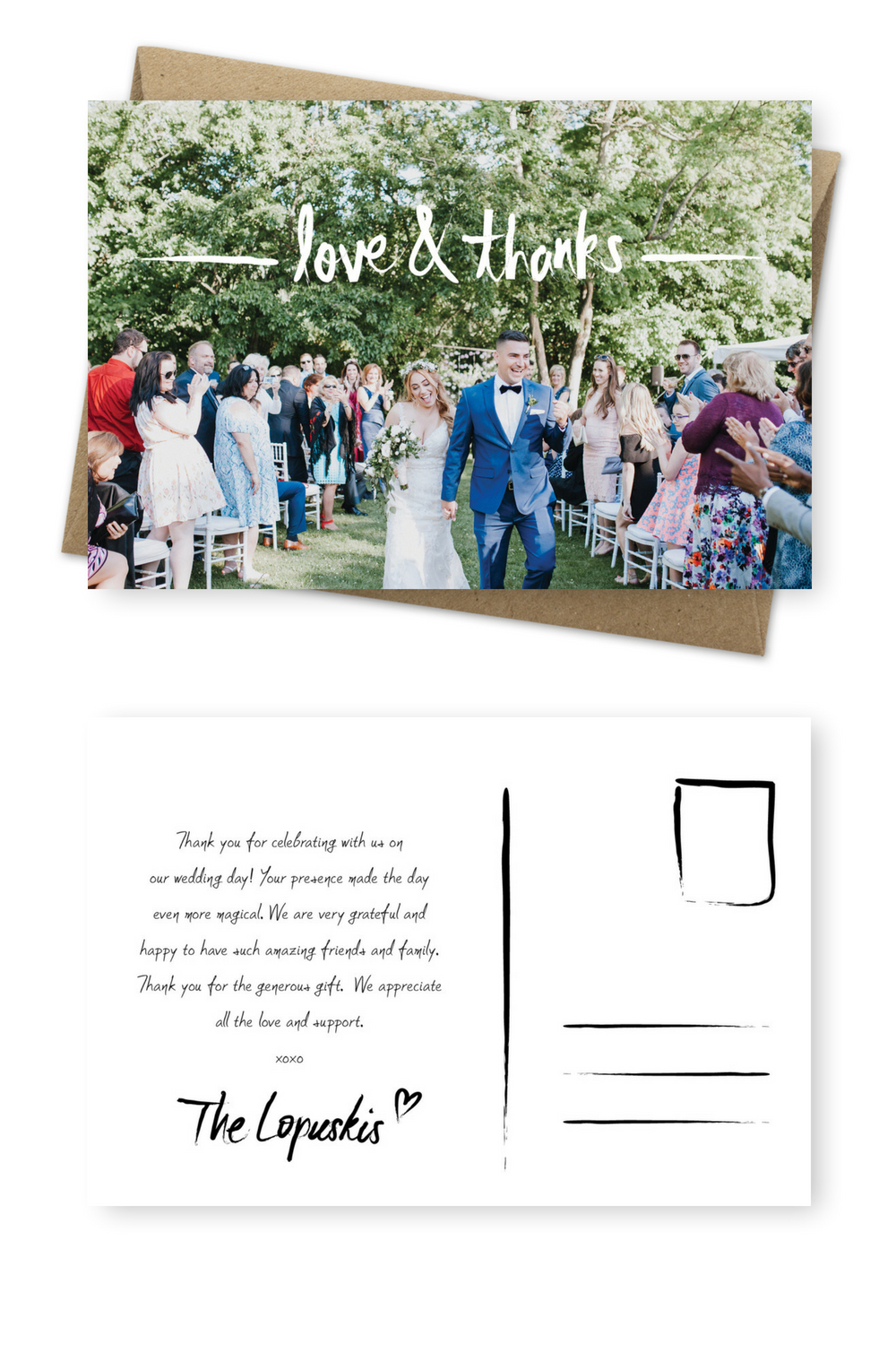Wording Examples For Your Wedding Thank You Cards – For The Love For Template For Wedding Thank You Cards