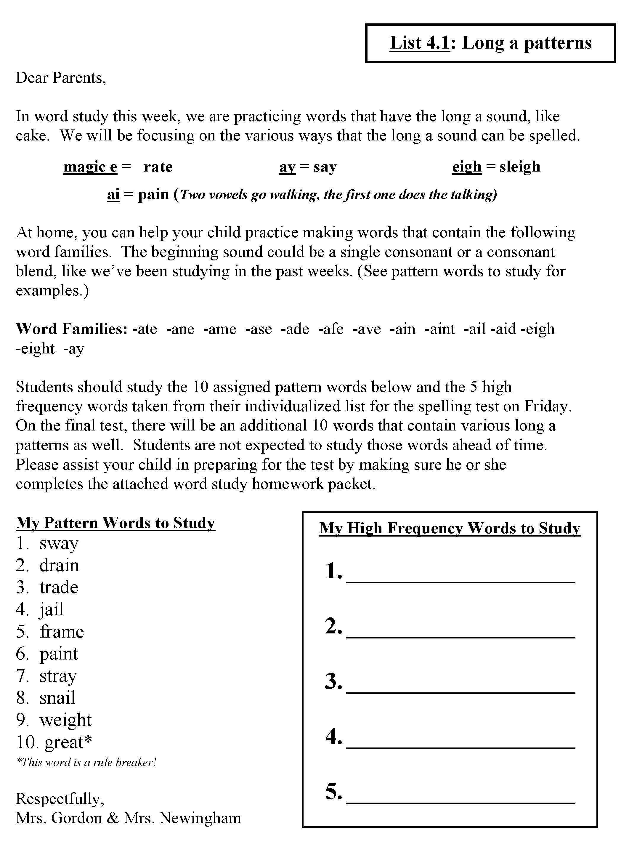 Words Their Way Hw Letter  Great Classroom Ideas  Word Study Within Words Their Way Blank Sort Template
