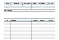 Work Order Template  Invoice Manager For Excel regarding Invoice Template For Work Done