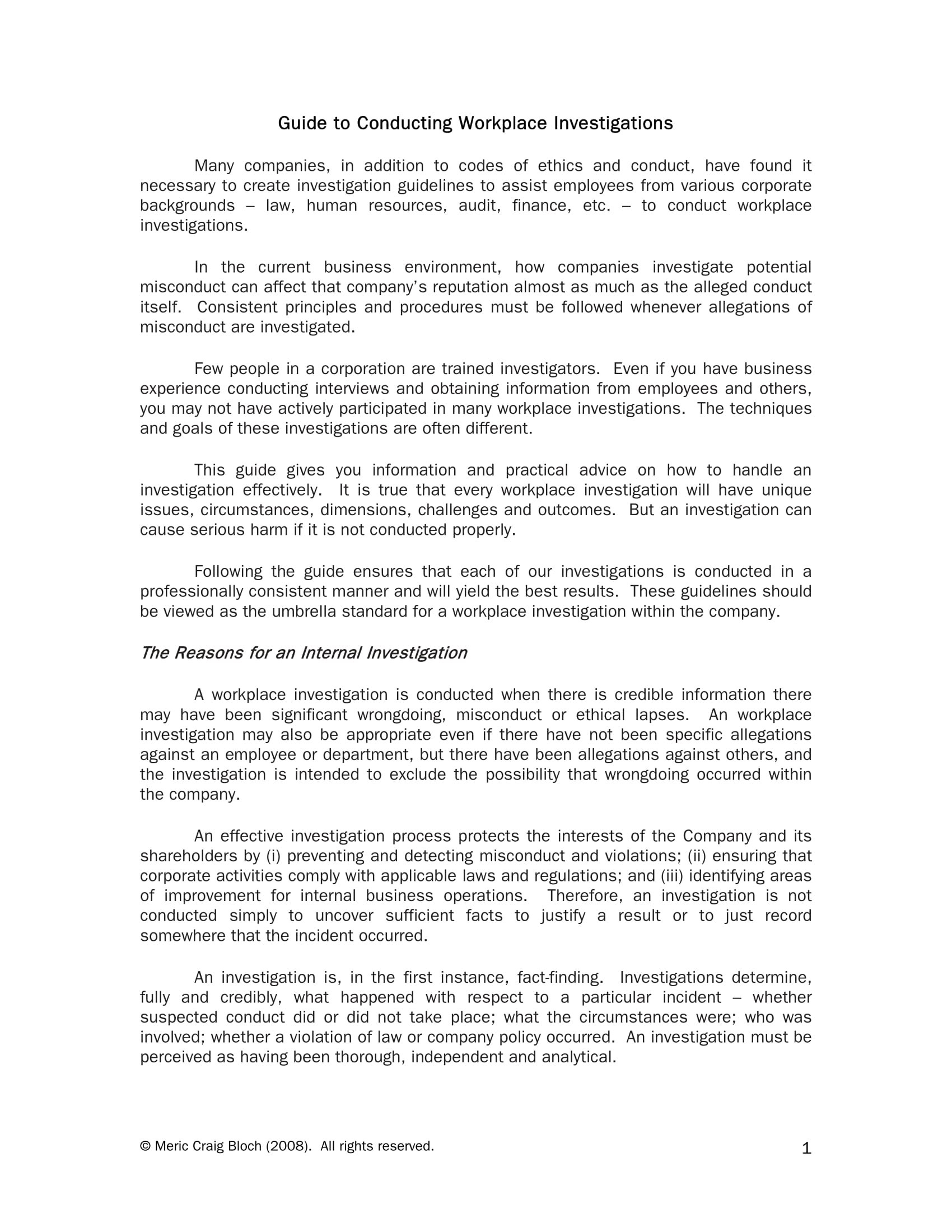 Workplace Investigation Report Examples  Pdf  Examples Inside Sexual Harassment Investigation Report Template