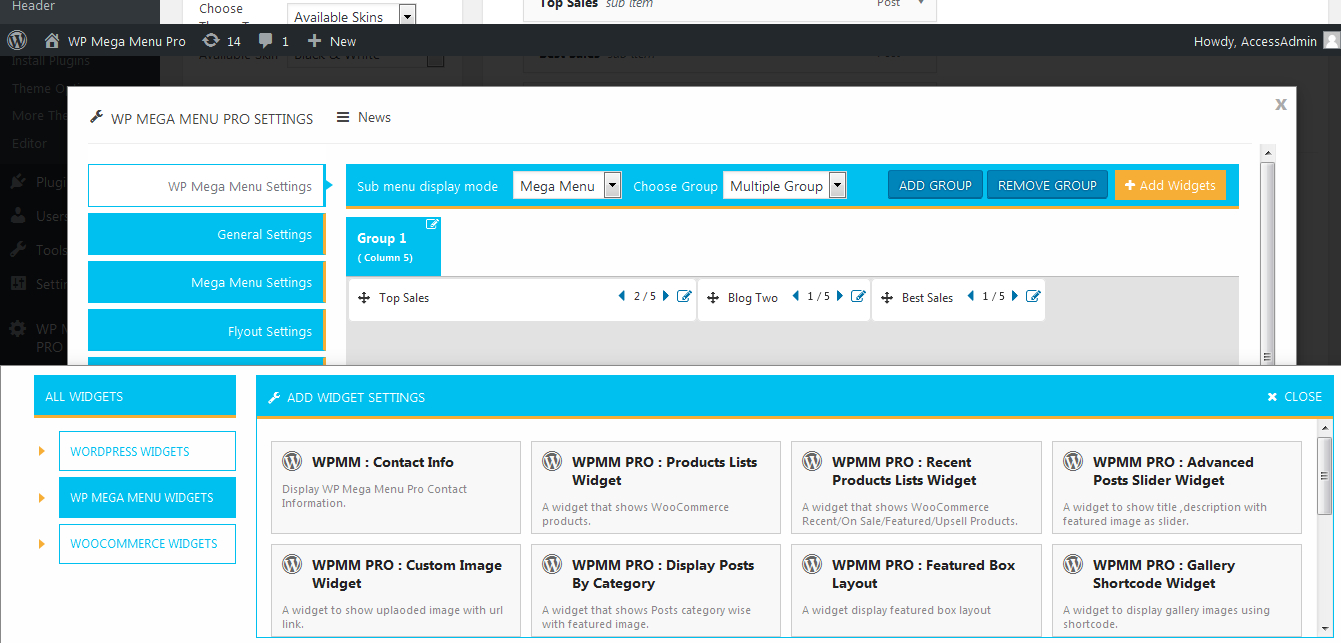 Wp Mega Menu Pro  Responsive Mega Menu Plugin For WordPress Inside WordPress Custom Menu Template