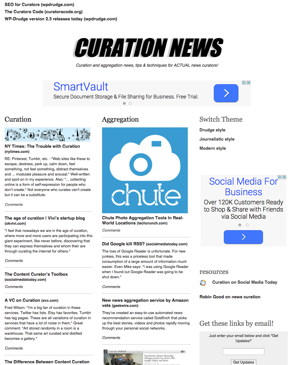 Wpdrudge Curation And Aggregation Theme  The Proper Web With Drudge Report Template