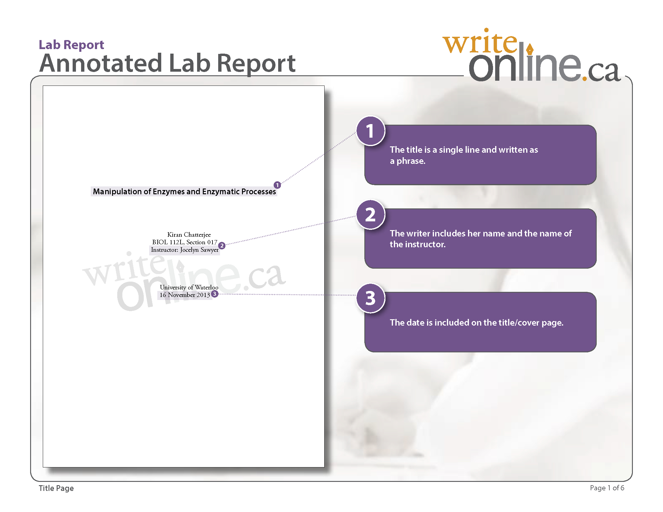 Write Online Lab Report Writing Guide  Parts Of A Lab Report Within Lab Report Template Middle School