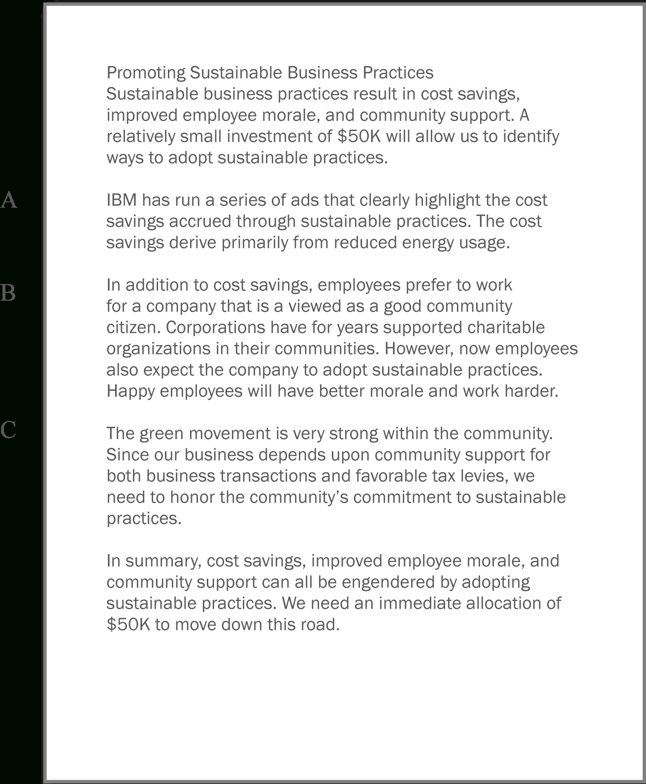 Writing The Business Case Design A Report For The App For Writing Business Cases Template