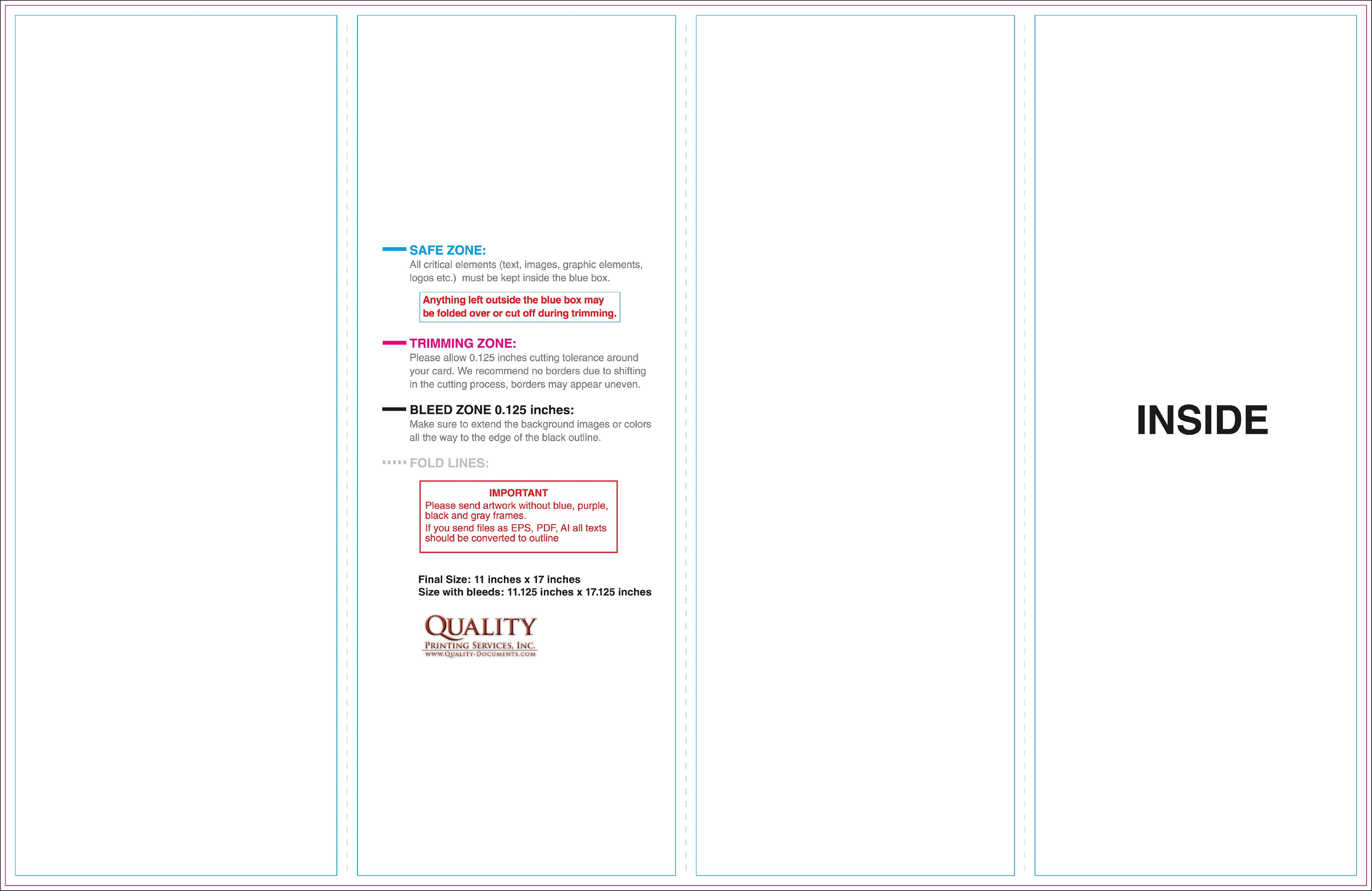 X Brochure Templates with regard to 11X17 Brochure Template