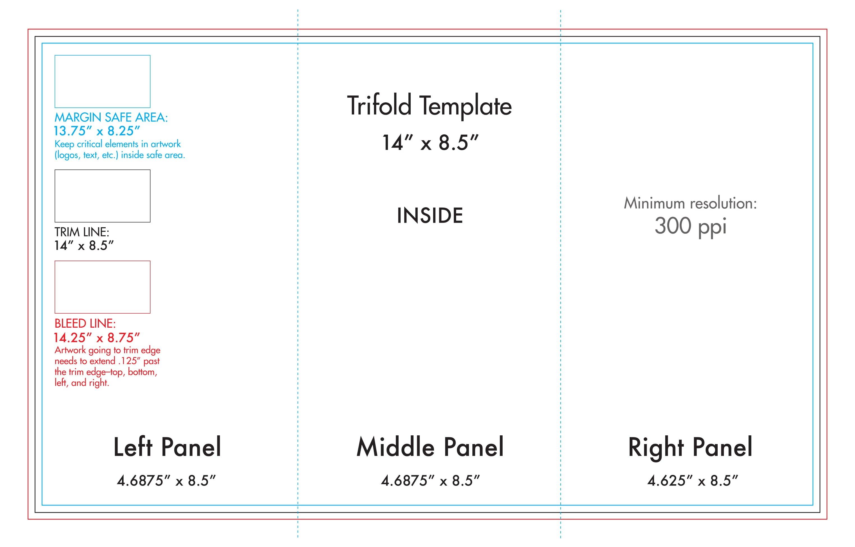 """ X "" Tri Fold Brochure Template  Us Press Regarding 4 Panel Brochure Template"
