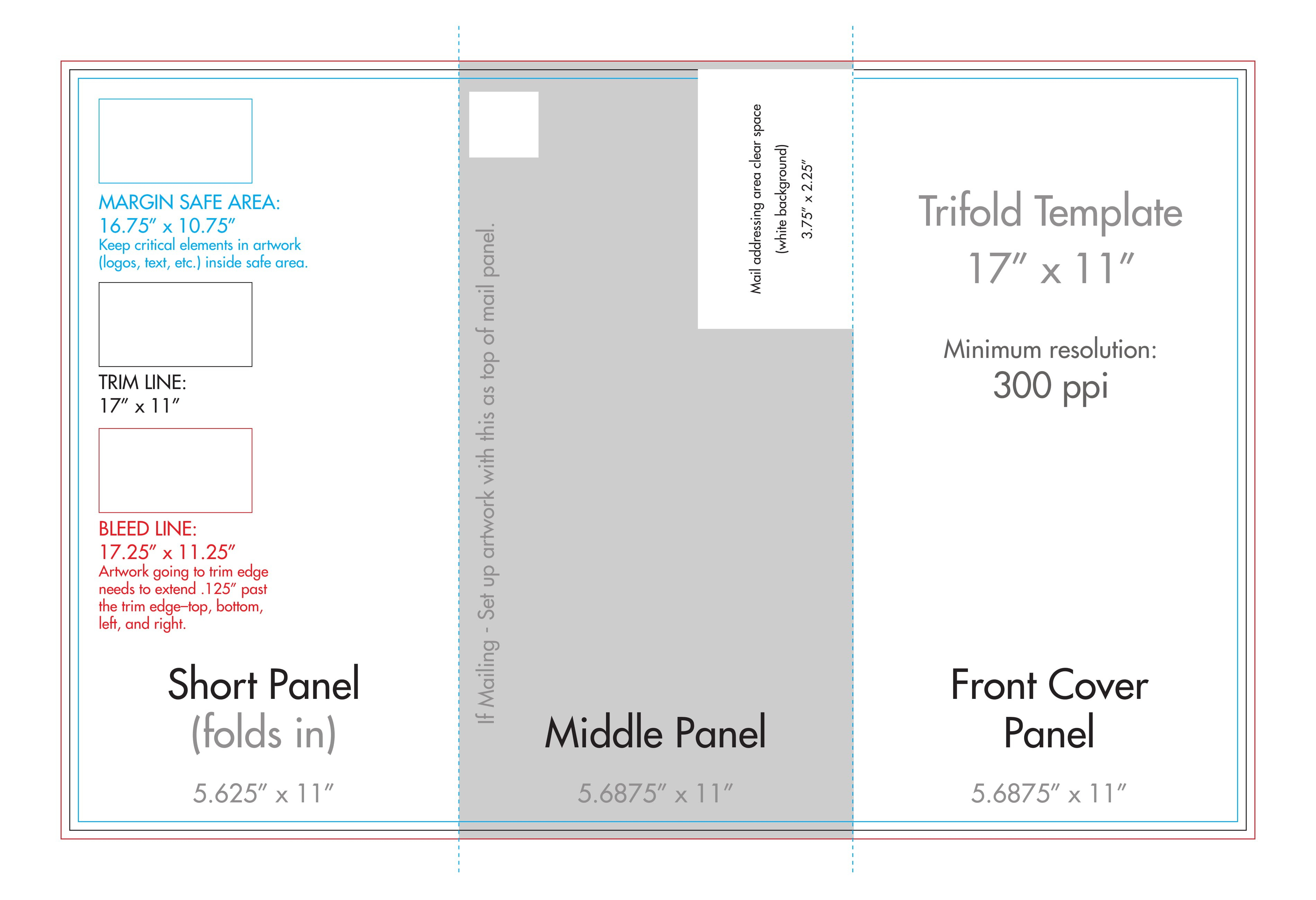 """ X "" Tri Fold Brochure Template  Us Press within 11X17 Brochure Template"