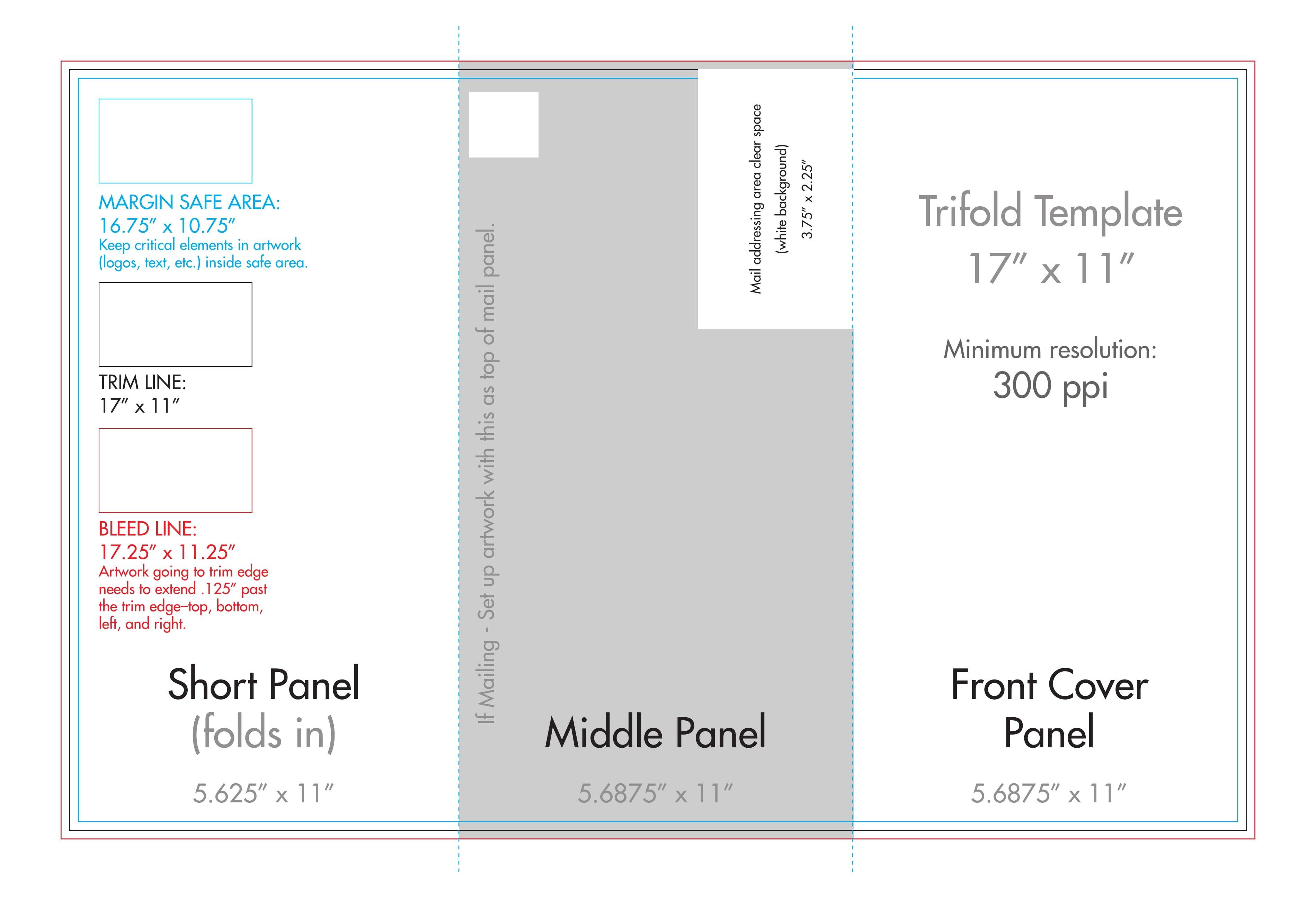 """ X "" Tri Fold Brochure Template  Us Press Within 11X17 Brochure Template"