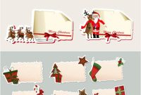 Xmas Label Templates Vector  Free Stock Vector Art  Illustrations throughout Xmas Labels Templates Free