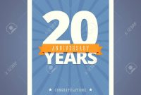 Year Anniversary Card Poster Template Royalty Free Cliparts with Template For Anniversary Card