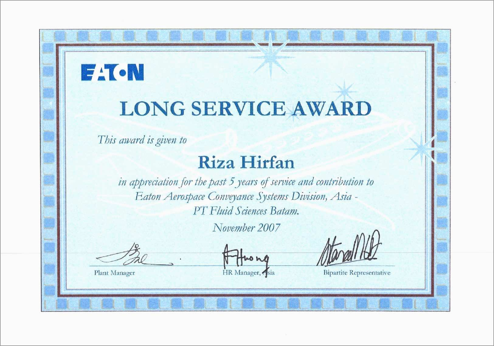 Years Of Service Certificate Template Free Beautiful Long Service With Regard To Certificate Of Service Template Free