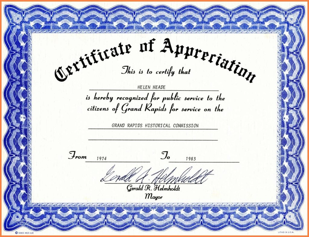 Years Of Service Certificate Template Word  Certificatetemplateword For Certificate For Years Of Service Template