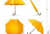 Yellow Umbrella Template Set Vector Stock Vector  Illustration Of pertaining to Blank Umbrella Template