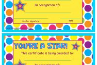 You're A Star End Of The Year Certificates  Classroom inside Star Certificate Templates Free