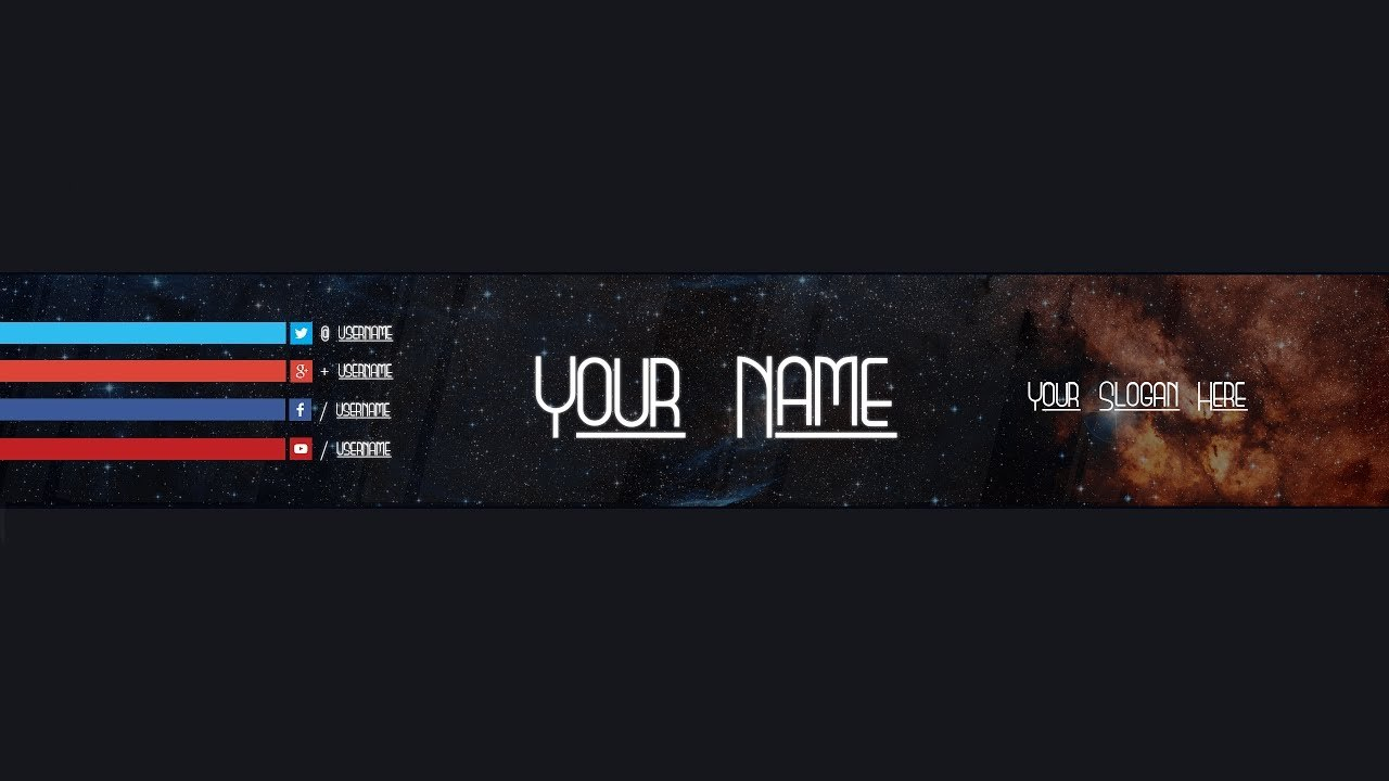Youtube Banner Template  Adobe Photoshop Inside Adobe Photoshop Banner Templates