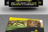Zoo Flyer Template On Behance in Zoo Brochure Template